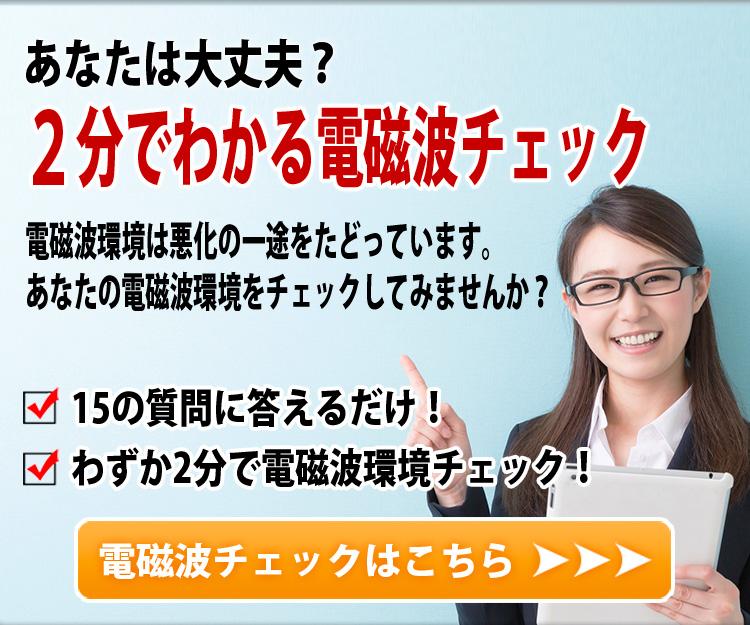 """""""2分でわかる電磁波チェック"""""""